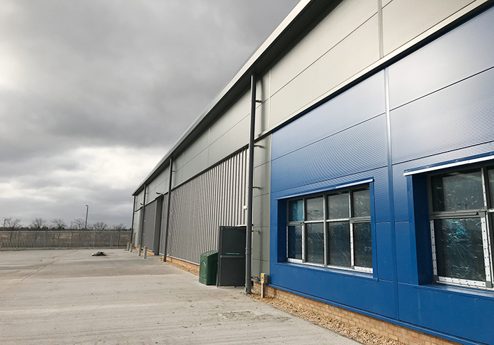 Ashton Building Systems Gartcosh cladding