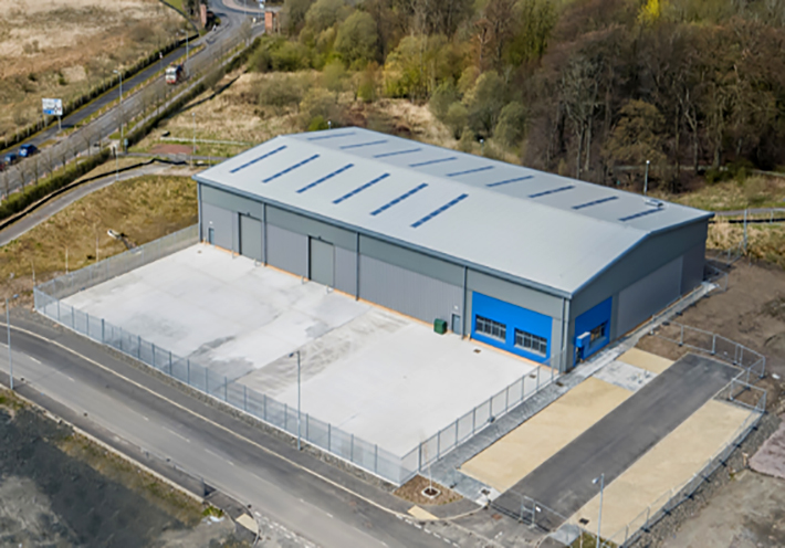 Ashton Building Systems Gartcosh roof view
