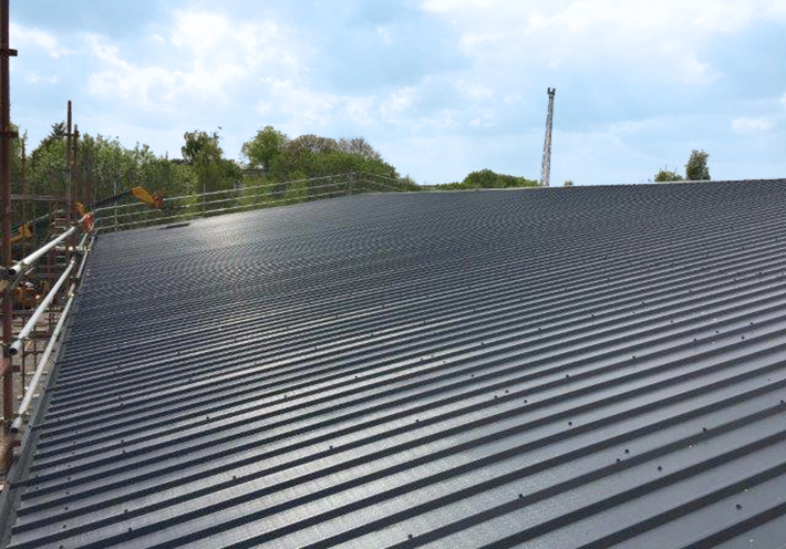 Ashton Building Systems Gilmour Sports roof 2