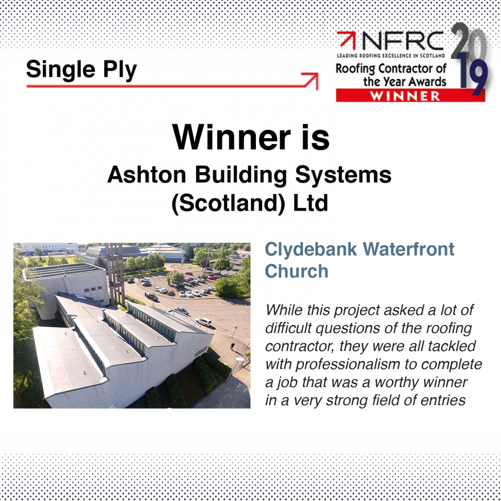 Ashton Building Systems NFRC Awards Winners 1