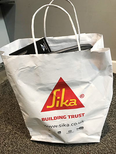 Ashton Building Systems SIKA Training Goody Bag