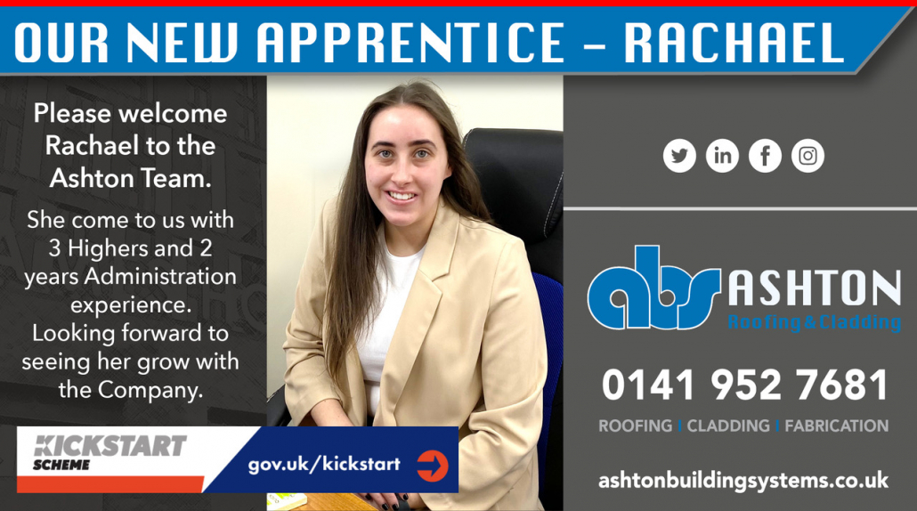 Our new apprentice - Rachael